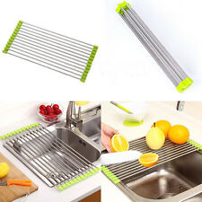 Sink Storage Dish Drying Rack Holder Fruit Vegetable Drainer Colanders Kitchen