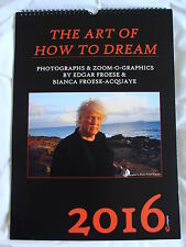 Calendar : Tangerine Dream - Edgar Froese : 2016 Limited Edition of 200 Only