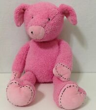 Pottery Barn Kids Gund Pink Pig Plush Toy Soft Cuddley 18 inches  Pre-owned