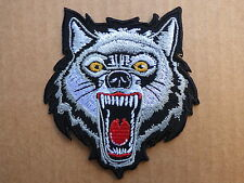 ECUSSON PATCH THERMOCOLLANT LOUP féroce animal usa biker trike harley /9 x8.1 cm