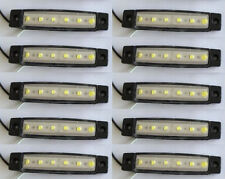 10x White 12V 6LED Side Marker Clearence Indicator Light For Truck Trailer Lorry