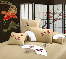 Orientsense Oriental Fan KING Size Quilt Doona Cover Set - 350TC100% Cotton