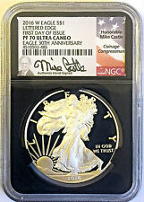 2016-W $1 Proof Silver Eagle PF70 NGC First Day of Issue NEW Mike Castle Label
