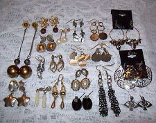 19 Piece Mixed Pierced Dangle Earring Lot