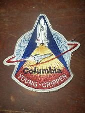 NASA SPACE SHUTTLE COLUMBIA YOUNG CRIPPEN PATCH MEMORABILIA VEHICLE PLANE