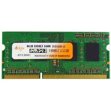 Dolgix 8GB DDR3 1600 MHz Laptop Ram- SO Dimm - Low voltage - Memory Module