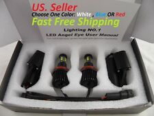 160W Kit Cree Chip LED H8 For BMW Angel Eyes Halo Ring DRL Red Or Blue HID Xenon