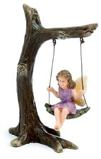 Miniature Fairy Garden Tree Branch Swing with Fairy  NOW WITH PICK MG12