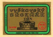 ETICHETTA -Vyškovský Březňák 12% -Moravia Meridionale - Vyskov Rep. Ceca - N. 38