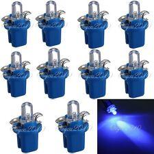 10 x T5 Bombilla LED con Luz Azul para Salpicadero coche Auto Salpicadero DC 12V