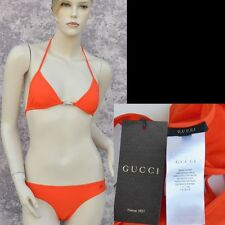 GUCCI New sz M Designer Bikini Swimwear Womens Swim Suit Bathing Swimsuit orange