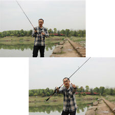 Outdoor 2.1M 6.89FT Carbon Fiber Fishing Spinning/ Bait Casting Rod 4 Sections