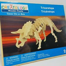 Creatology 3D Wooden Puzzle Triceratops Dinosaur puzzle sealed