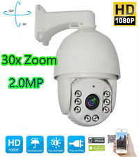 30X ZOOM HD 1080P 2.0 MP Outdoor PTZ IP Speed Dome Camera IR 150M Night CMOS 7''