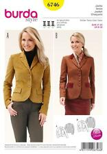 BURDA SEWING PATTERN MISSES' TAILORED BLAZER JACKET SIZE 8 - 18  6746 BURDA