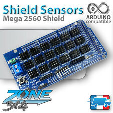 Carte d'extension capteurs pour Arduino MEGA 2560 (Shield Sensor MEGA)