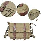 2016*Men's Vintage Canvas Leather Satchel School Military Shoulder Messenger Bag