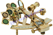 BRASS MARINE SEXTANT STEAMPUNK STAR GAZER NAVIGATOR SCOPE NAUTICAL TOOL