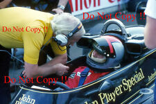 Mario Andretti & Colin Chapman JPS Lotus F1 Portrait 1976 Photograph