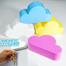 Cute Blue Creative Home Cloud Shape Magnetic Key Hook Wall Door Hangers Holder