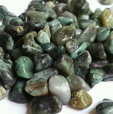 EMERALD NATURAL Small Green Brazil tumbled Gem stone lot 40-60pcs  1/4 lb