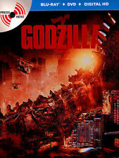 Godzilla Blu-ray/DVD 2014 2-Disc Set Digital Copy Ultraviolet SteelBook Metalpak
