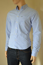 NEW Abercrombie & Fitch Kilburn Mountain Blue Stripe Striped Shirt S RRP £82