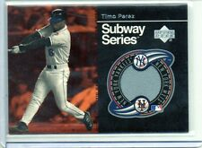 2001 Upper Deck Subway Series #SS-TP TIMO PEREZ Mets Game-Used Jersey Card