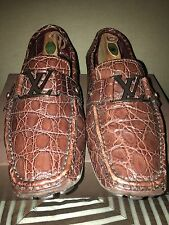 Louis Vuitton Monte Carlo Crocodile Loafers LV Sz10 US Sz 11-11.5 100% AUTHENTIC