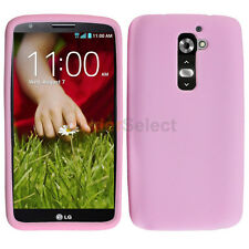 Silicone Soft Slim Rubber Gel Case Cover Skin for Android Phone LG G2 Pink
