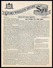 For William Henry SPY. Dieu Et Mon Droit. Lake George, N.Y. Vol. 8, No. 10.