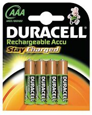 Duracell Rechargeable AAA Long Life Batteries Guaranteed to Last 5 Yrs - 4 Pack