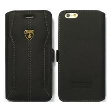 "Lamborghini Huracan-D1 Leather Ultra Slim Flip Case for iPhone 6 / 6s (4.7"") BK"