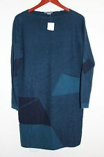 VINCE Abstract Jacquard Tunic Twilight/Coastal Sweater Dress Wool Cashmere NEW S