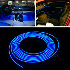 2M 12V EL Wire Skyblue Cold light Neon Atmosphere Lights Unique Decor For Toyota