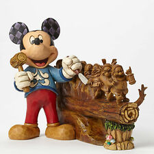 Disney Traditions Jim Shore 10 Year Anniversary Mickey Carving 7 Dwarfs Figurine