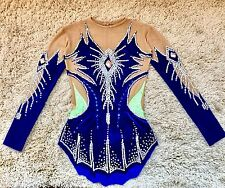 Rhythmic Gymnastic Leotard Ice Skating Dance Competition Costume Dress Sz S 8y