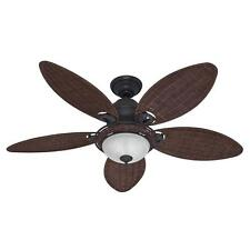"HUNTER 54"" Caribbean Breeze ""Weathered Bronze"" Ceiling Fan w/ Light - 54095"