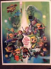 "Legend Of Zelda 25th Anniversary Art Reprint Mini-poster 11""x 9"""