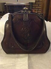 JEMCO Vintage Brown Leather Purse with Patent Dates