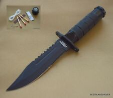 DEFENDER XTREME SURVIVAL KNIFE HUNTING FIXED BLADE W/ SHEATH & SURVIVAL KIT NEW!