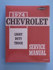 74 1974 Chevy Chevrolet Light Duty Truck Shop service manual