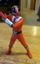 "Power Rangers Sentai Hero PVC Vinyl Figure 6"" Inch Time Force Red Ranger Used"