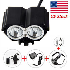 For New 5000LM 2x CREE T6 LED Front Bicycle Bike Light Head lamp + Battery