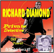 Richard Diamond Old Time Radio  112  Episodes MP3 DVD