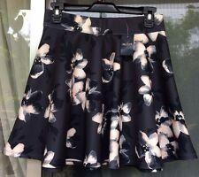 Hollister Cali Skirt Short Floral Print Above Knee Gray w/Pink Blush Size: M NWT