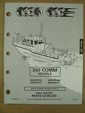 1993 OMC JOHNSON EVINRUDE 200 HP COMMERCIAL OUTBOARD MOTOR PARTS CATALOG 435890