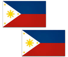 Philippines Flag Decal Filipino Vinyl Car Window Bumper Sticker SET OF 2   3""