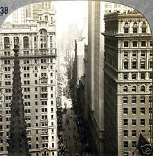 Keystone Stereoview Broadway From Empire State Building, NY from 1930's T600 Set