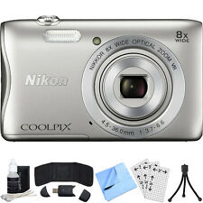 Nikon COOLPIX S3700 20.1MP Digital Camera w/ 8x Optical Zoom Lens Refurb Bundle